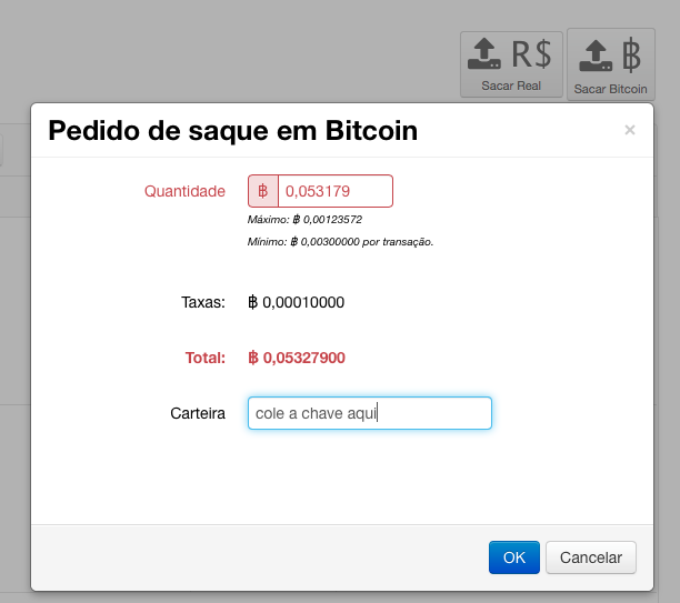 saque bitcoin