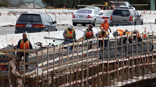 construção ponte USA