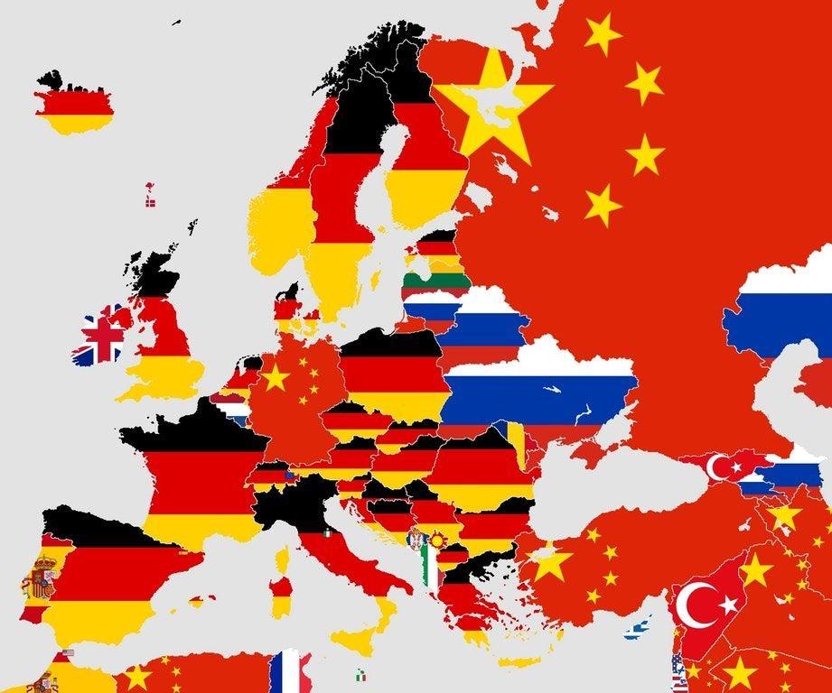 Mapa com o principal importador de cada país