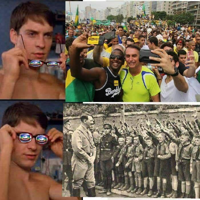 bolsonaro globolixo meme