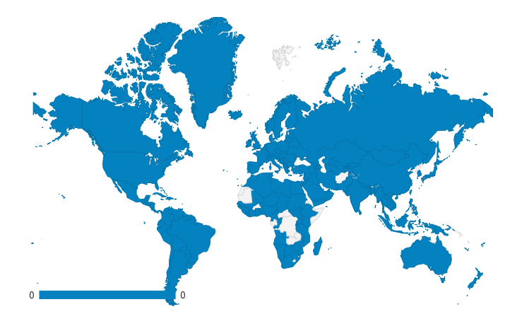 Na Europa só tem 2 países que não acessaram o blog Viver de Dividendos.